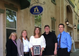 From L to R - Martha Goralka/Antioch Chamber, Tracy Butler/Commercial Support Services, Michele Ternes/Commercial Support Services, Sean Wright/Antioch Chamber, Jack Monroe/Antioch Chamber